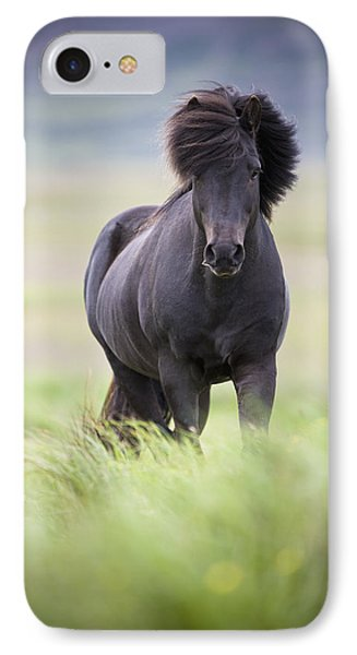 A Horse With Its Mane Blowing In The Phone Case by David DuChemin
