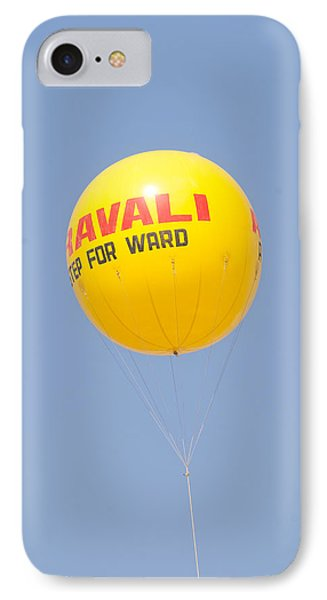 A Hot Air Balloon In The Blue Sky IPhone Case by Ashish Agarwal