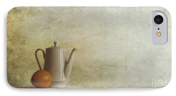 A Jugful Tea And A Orange IPhone Case by Priska Wettstein