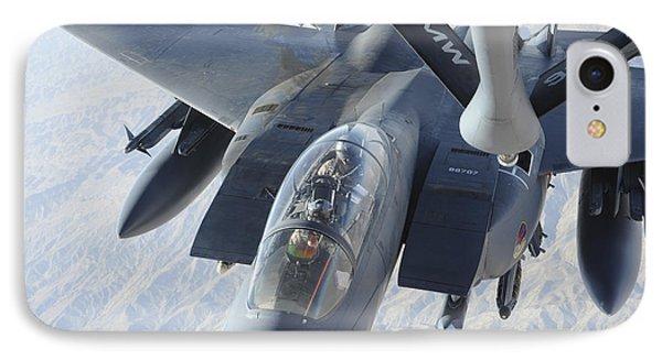 A Kc-135 Stratotanker Refuels An F-15e Phone Case by Stocktrek Images