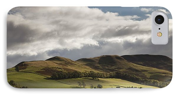 A Landscape With Rolling Hills And Phone Case by John Short