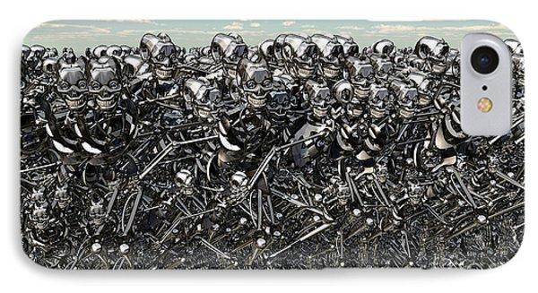 A Large Gathering Of Robots Phone Case by Mark Stevenson