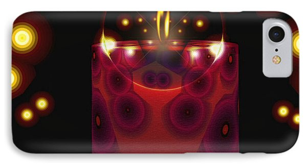 IPhone Case featuring the digital art A Lighted Fractal Candle by Mario Carini