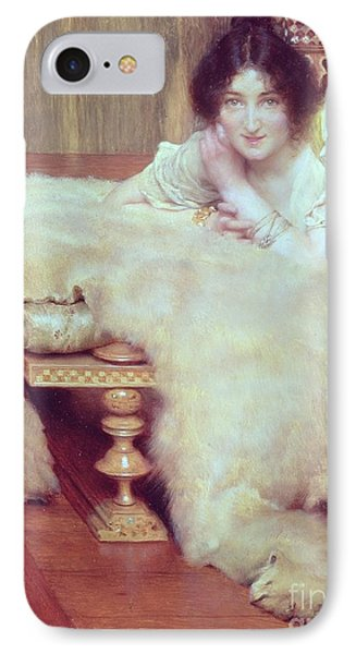 A Listener - The Bear Rug Phone Case by Sir Lawrence Alma-Tadema