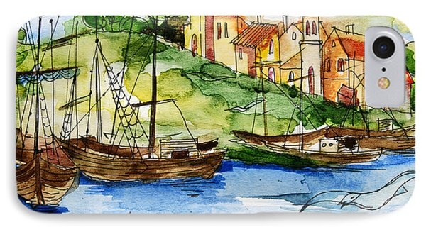 A Little Fisherman's Village IPhone Case
