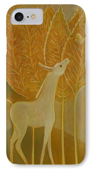 IPhone Case featuring the painting A Little Golden Song by Tone Aanderaa