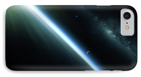 A Lone Satellite Drifts Silently Phone Case by Kevin Lafin
