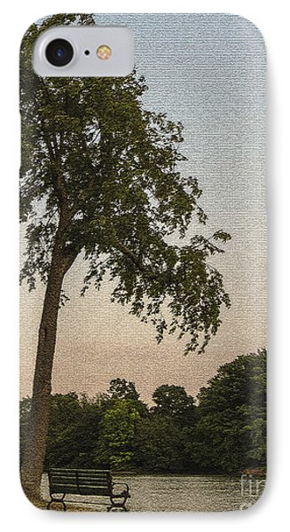 A Lonely Park Bench IPhone Case