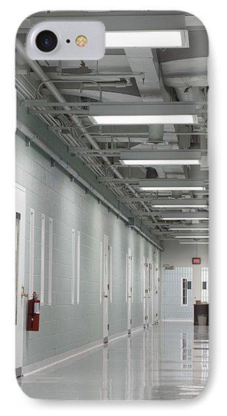A Long Corridor In A Residential Unit Phone Case by Roberto Westbrook