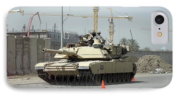 A M1 Abram Sits Out Front Of The New Phone Case by Terry Moore