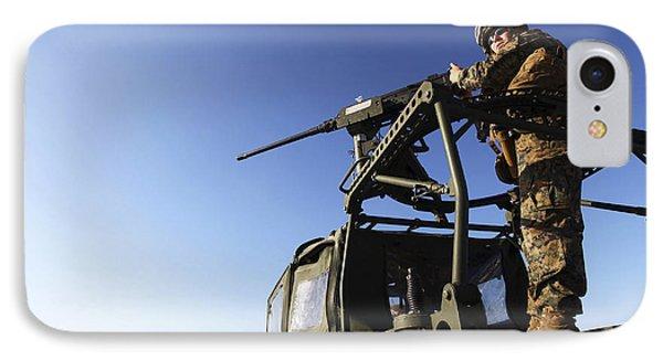 A Machine Gunner Mounts A M-2 Phone Case by Stocktrek Images