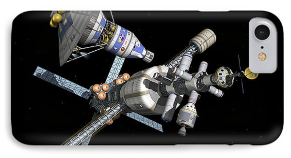 A Manned Mars Landerreturn Vehicle Phone Case by Walter Myers