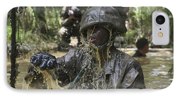 A Marine Splashes As He Makes His Way Phone Case by Stocktrek Images