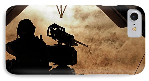 A Marine Waits For Dust To Clear While Phone Case by Stocktrek Images