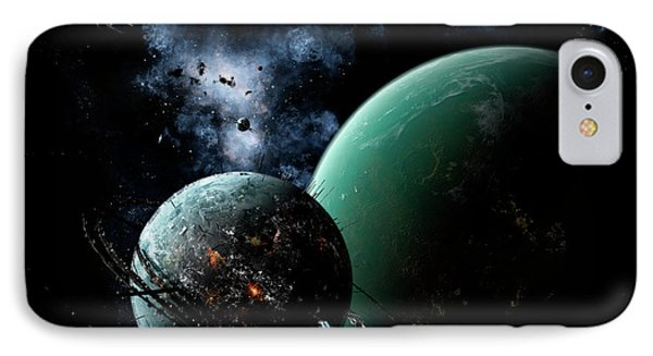 A Massive Space Station Orbits A Large Phone Case by Brian Christensen