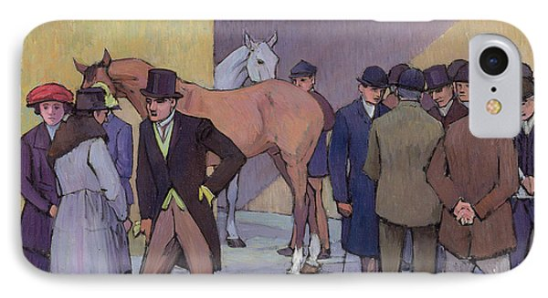 A Morning At Tattersall's Phone Case by Robert Polhill Bevan