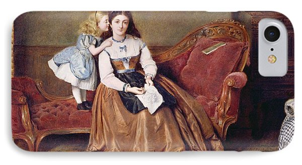 A Mother's Darling IPhone Case by George Goodwin Kilburne