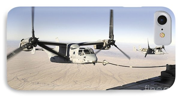 A Mv-22 Osprey Refuels Midflight While Phone Case by Stocktrek Images