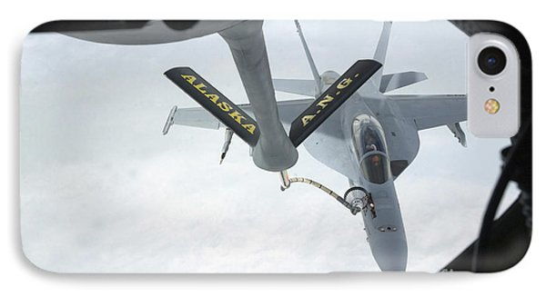 A Navy Fa-18f Super Hornet Is Refueled Phone Case by Stocktrek Images