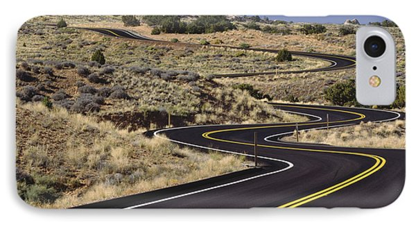 A Newly Paved Winding Road Up A Slight Phone Case by Greg Probst