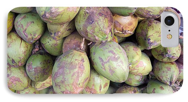 A Number Of Tender Raw Coconuts In A Pile IPhone Case by Ashish Agarwal