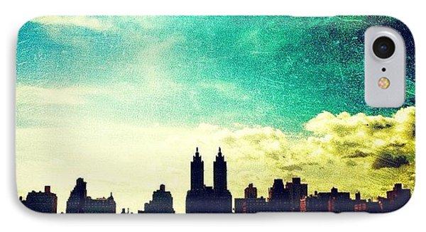 A Paintbrush Sky Over Nyc IPhone Case by Luke Kingma
