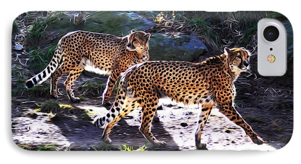 A Pair Of Cheetah's Phone Case by Bill Cannon