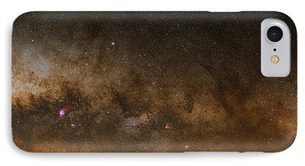 A Panorama Of The Milky Way IPhone Case by Luis Argerich