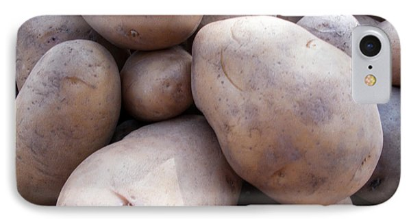 A Pile Of Large Lumpy Raw Potatoes IPhone Case by Ashish Agarwal