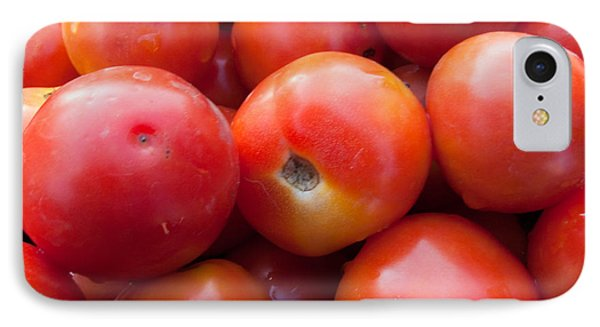 A Pile Of Luscious Bright Red Tomatoes Phone Case by Ashish Agarwal