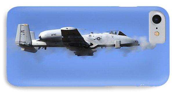 A Pilot In An A-10 Thunderbolt II Fires Phone Case by Stocktrek Images