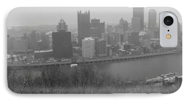 A Pittsburgh Winter Day Phone Case by David Bearden