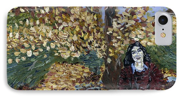 A Portrait Of The Artist's Mother In Autumn IPhone Case by Denny Morreale