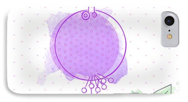 A Purple Bird IPhone Case by Nomi Elboim