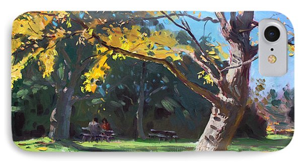 A Quiet Fall Afternoon IPhone Case by Ylli Haruni