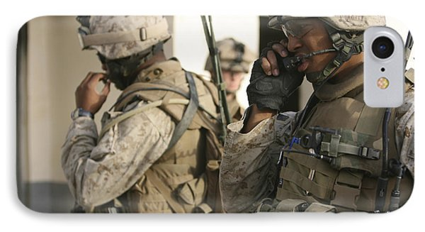 A Radio Operator Helps A Platoon Phone Case by Stocktrek Images
