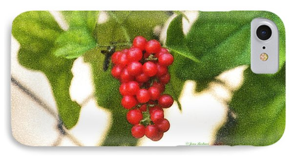IPhone Case featuring the photograph A Red Cluster by Joan Bertucci