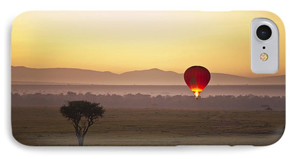 A Red Hot Air Balloon Takes Flight Phone Case by David DuChemin
