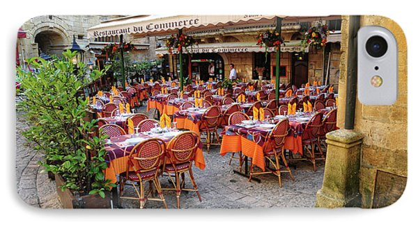 A Restaurant In Sarlat France Phone Case by Dave Mills