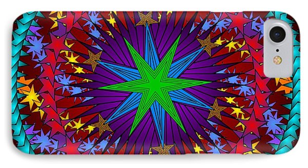 IPhone Case featuring the digital art A Riot Of Stars by Mario Carini