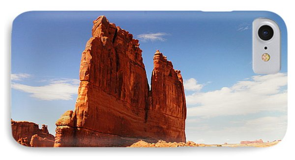 A Rock At Arches Phone Case by Jeff Swan