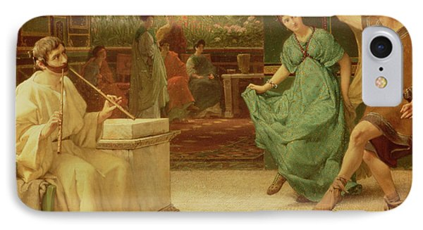 A Roman Dance IPhone Case by Sir Lawrence Alma-Tadema