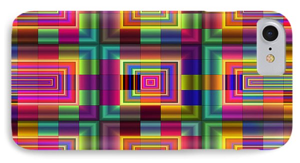 IPhone Case featuring the digital art A Sense Of Squares by Mario Carini