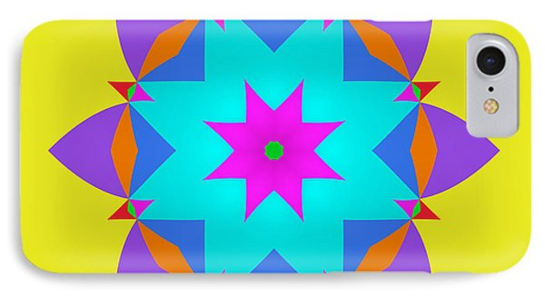 IPhone Case featuring the digital art A Simple Fractal by Mario Carini