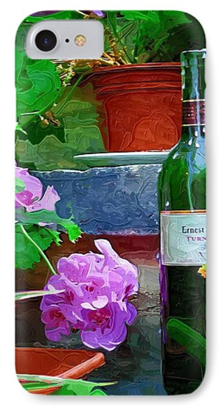A Sip Of Wine Phone Case by Amanda Moore