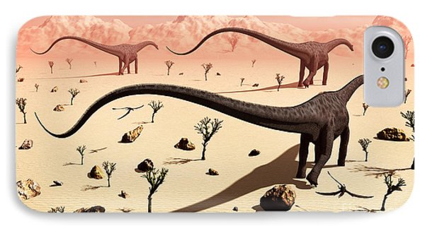 A Small Group Of Diplodocus Sauropod Phone Case by Mark Stevenson