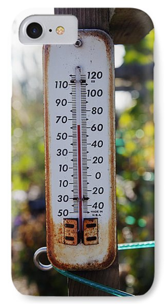 A Small Outdoors Temperature IPhone Case by Nathan Griffith