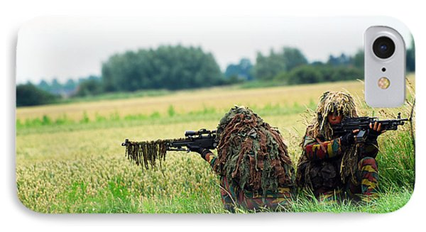 A Sniper Unit Of The Paracommandos Phone Case by Luc De Jaeger