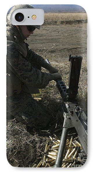 A Soldier Changes The Barrel Of An M2 Phone Case by Stocktrek Images