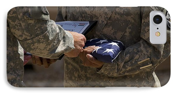 A Soldier Is Presented The American Phone Case by Stocktrek Images